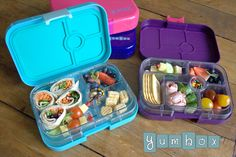 Enter to win this YumBox Giveaway- 5 winners! These lunch boxes are a great lunch box option for toddlers and kids! #weelicious giveaways