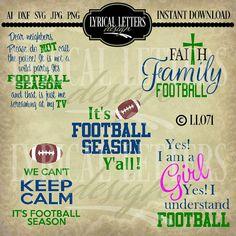 Football Season Dear Neighbors LL071 Collection  by lyricalletters