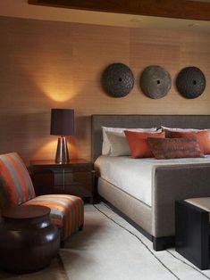 42 Beautiful African Bedroom Decor - Home Design Modern Bedroom Decor, Stylish Bedroom, Contemporary Bedroom, Home Bedroom, Bedroom Wall, Modern Decor, Living Room Decor, Bedroom Ideas, Design Bedroom