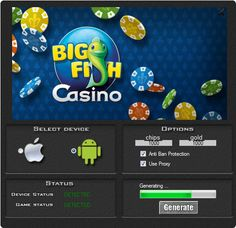 This hack works 100% to the game Big Fish Casino. This is a great tool you will be generate a lot of chips and gold. Check it by download the cheat. You do not have to spend their their real money.  http://wazzupgames.com/big-fish-casino-hack/