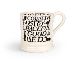 Emma Bridgewater 1 2 Pint Black Toast Whippet Mug New Emma Bridgewater Pottery, Stoke On Trent, Gifts For Dad, Toast, Mugs, Whippets, Greyhounds, Ebay, Black
