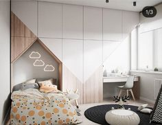 Affordable Kids Bedroom Design Ideas That Suitable for Kids « inspiredesign room girl bedrooms room girl creative room girl diy room girl ideas room girl teenagers room girl wall Baby Bedroom, Girls Bedroom, Bedroom Decor, Baby Rooms, Kids Rooms, Kids Bedroom Designs, Kids Room Design, Wall Design, Kid Beds