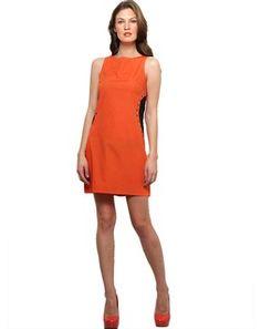 XnY Orange Waist Detail Dress orangeblackDR1020015
