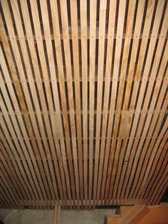 Wood Slat Solution For Basement Ceiling I Recently Showed