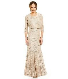 Alex evenings lace jacket dress set