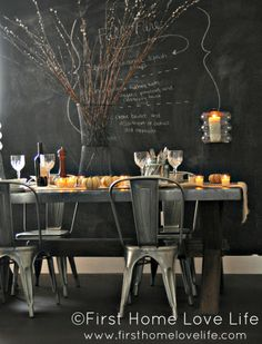 Creating A Casual Fall Tablescape #fall #thanksgiving #potterybarn #industrial #diningroom