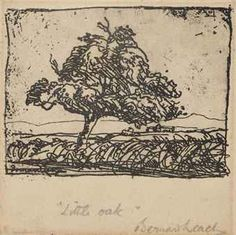 Bernard Leach (1887-1979)  Little Oak  Etching, signed in pencil Bernard Leach and titled as above  7.2 x 7.2cm. (the plate)