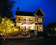 The Christmas House carries unique ornaments, decorations, flowers and gifts. Southport, NC