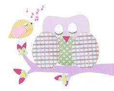 Baby Girl Nursery Prints Girl Nursery Art Purple by LittleMonde