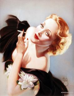 Real American Patriot - Stood up to the Nazis   MARLENE DIETRICH BY VARGAS