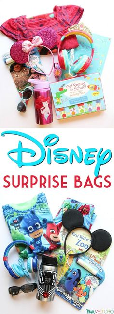 Love these Disney surprise ideas! Make a Disney Surprise Bag for your kids! #Disney