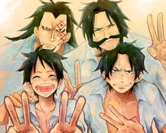 ONE PIECE, Monkey D. Luffy, Monkey D. Dragon, Gol D. Roger, Portgas D. Ace