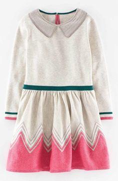 Mini Boden 'Chevron Sparkle' Fit & Flare Dress (Toddler Girls, Little Girls & Big Girls) available at #Nordstrom