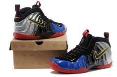 Nike Air Foamposite Pro Black/Blue/Silver/Red shoes