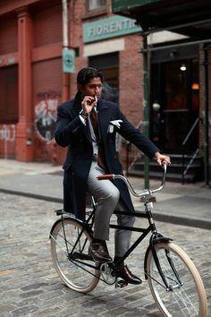 #menswear #mensfashion   A classic bike is always a good look the the debonair