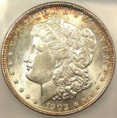 ★ 1903 Morgan Silver Dollar ICG MS65 - RARE Key Coin! ★
