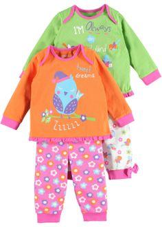 Girls 2 Pack Bird and Floral Print Pyjamas - Matalan
