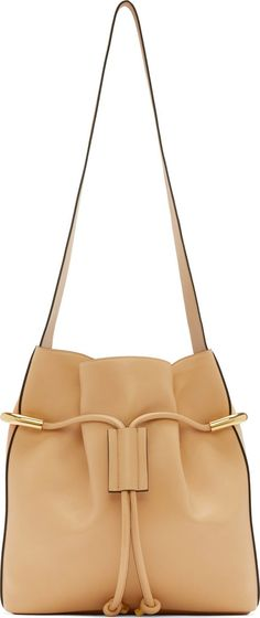 Chloé Blush Pink & Beige Leather Emma Medium Bag