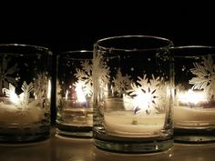 Votive candle holders, Votive candles and Winter wedding