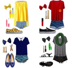 Four perfect summer outfits for all four houses of Hogwarts School of Witchcraft and Wizardry. Filled with cute and bright pieces, perfect for a Hufflepuff, spunky and strong items, fitting for a Gryf Harry Potter Fiesta, Harry Potter Style, Harry Potter Houses, Harry Potter Outfits, Harry Potter Theme, Hogwarts Houses, Slytherin, Theme Park Outfits, Fandom Outfits