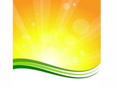 Creative summer sunburst background with green lines illustration art work.
