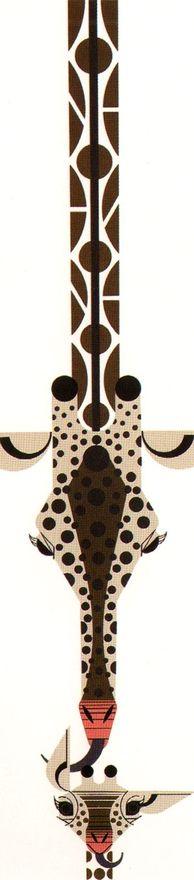 Giraffe by Charley Harper.