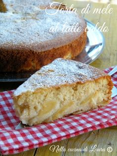 Apple Pie with warm milk - Torta di mele al latte caldo - nella cucina di laura