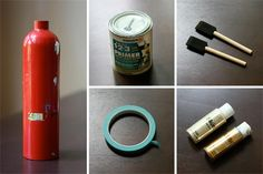 DIY Fire Extinguisher Vase .. I think it would also look kay without the paint !?