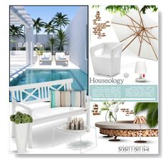"""Houseology Outdoors"" by desert-belle ❤ liked on Polyvore featuring interior, interiors, interior design, home, home decor, interior decorating, Tonon, Gloster, Fatboy and Eichholtz"