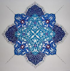 Persian Illuminations (Tazhib) artwork by Mojgan Lisar: januari 2011