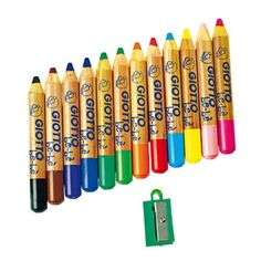 Spécialement adaptés aux petites mains, voici 12 gros crayons pour les plus beaux chefs-d'