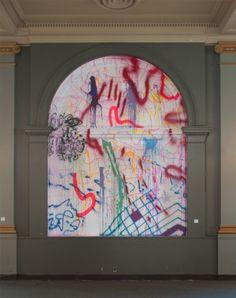 Sarah Cain. Runaway, (2013)  Site-specific installation Los Angeles Nomadic Division, Los Angeles, California