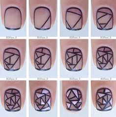 Modern Nail Art Designs that Are Too Cute to Resist New Nail Art, Nail Art Diy, Easy Nail Art, Diy Nails, Cute Nails, Nail Nail, Nail Glue, Nail Polishes, Fantastic Nails