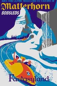 Disneyland Matterhorn Poster Disney Fantasyland - Buy Any 2 Get 1 Free Vintage Disney Posters, Retro Disney, Vintage Disneyland, Disney Art, Walt Disney, Disney Theme, Disney Stuff, Disney 2015, Disney High
