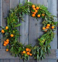 Citrus wreath for fall/winter