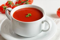 Discover official Dukan Diet recipes for creating tasty, healthy soups that can help you lose weight. Healthy Tomato Soup Recipe, Tomato Soup Recipes, Healthy Soup Recipes, Healthy Foods To Eat, Paleo Food, Eating Healthy, Dukan Diet Recipes, Low Calorie Recipes, Cream Of Tomato Soup