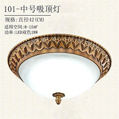 Continental ceiling light zinc alloy retro bedroom light ceiling light emulation marble restaurant in short light lamp ,42CM Aisle -- Awesome products selected by Anna Churchill