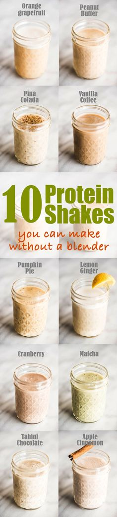 10 Easy Protein Shake Recipes You Can Make Without a Blender #sponsored