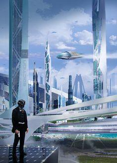 ArtStation - Blue City, JAN DITLEV