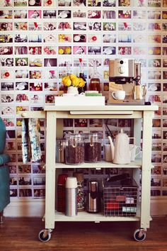 Coffee-tea-station-cart-picture-wall via designindulgences. - Malika Ali Harding - Coffee-tea-station-cart-picture-wall via designindulgences. Coffee-tea-station-cart-picture-wall via designindulgences.