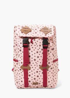 Printed backpack -  Kids | MANGO Girl Backpacks, Girls Accessories, Back To School, Suitcase, Mango, Printed, Kids, Manga, Young Children