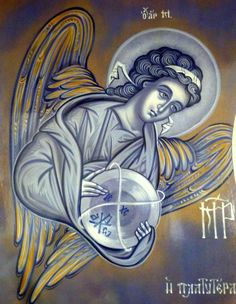 Today we celebrate the feast of the Archangels St. Michael- Who is like God St. Gabriel- Man of God or Strength of God St. Raphael- Divine healer Angels are mentioned over 3000 times in scriptur… D N Angel, Angel Art, Byzantine Icons, Byzantine Art, Religious Icons, Religious Art, Catholic Art, Angels Among Us, Art Icon