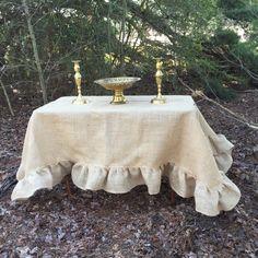 Custom Ruffled Burlap Tablecloth Handmade Ruffled Tablecloth Wedding  Decorations Table Decor Custom Burlap Table Cloth | Home, Burlap Tablecloth  And French