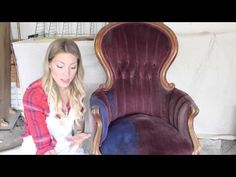 Video Tutorial: Painting Fabric with Annie Sloan Chalk Paint - Shades of Blue Interiors