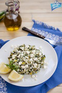 Spanakorizo, ryż ze szpinakiem po grecku