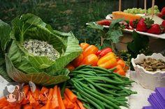 The French Tangerine: ~ flowers vs. food Pretty veggie tray presentation!