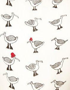 seagull print dress!!!