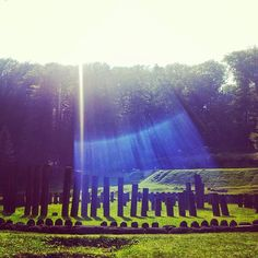 Yoga retreat at Sarmizegetusa, Romania. How mystical is this picture??