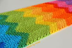 Moss stitch ripple tutorial