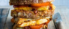 Try our halloumi toastie recipe with harissa and honey. Check out our easy toasite twist on classic cheese toastie. Try this easy toastie recipe with cheese Cheese Recipes, Cooking Recipes, Cafe Recipes, Uk Recipes, Lunch Recipes, Vegan Recipes, Cooking Halloumi, Rose Harissa, Cheese Toasties